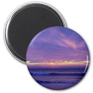 Beautiful Sunset: Mission Beach, San Diego, Califo 6 Cm Round Magnet