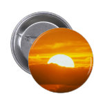 Beautiful Sunset: Moorea, outer reef pass, Tahiti 6 Cm Round Badge