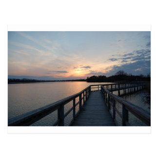 Beautiful Sunset On a Dock Postcard