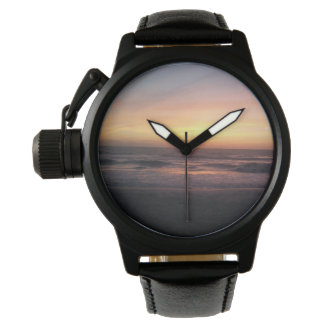 Beautiful Sunset on the Beach Print Watch