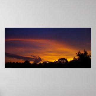 Beautiful Sunset Panorama Poster