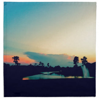 Beautiful Sunset Photo Napkin