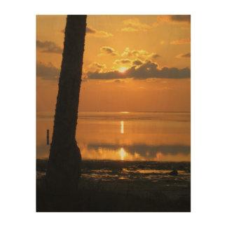 Beautiful Sunset, soft calming. Wood Wall Decor