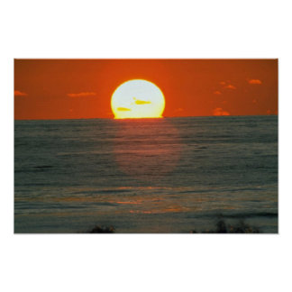 Beautiful Sunset: South Pacific, Tahiti Print