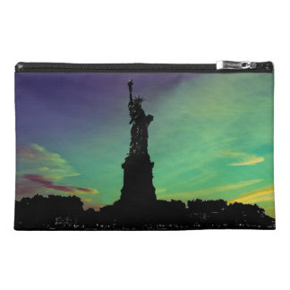 beautiful sunset/Statue of Liberty Travel Bag Travel Accessories Bag