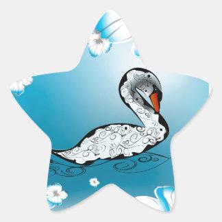 Beautiful swan stickers