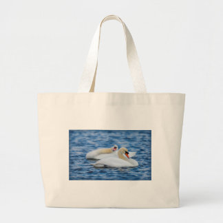 Beautiful Swans on a Lake Enjoying the Day Bags
