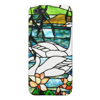 Beautiful Swans Stained Glass Art iPhone 5 Cover