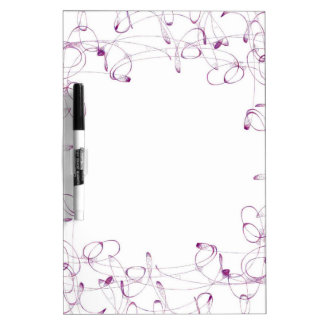Beautiful Swirls Dry Erase Board