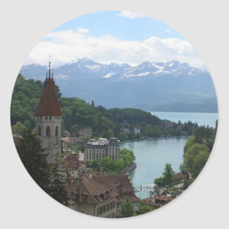 Beautiful Swiss Landscape Round Sticker