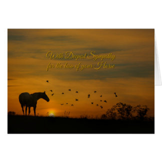 Beautiful Sympathy Card for the Loss of a Horse
