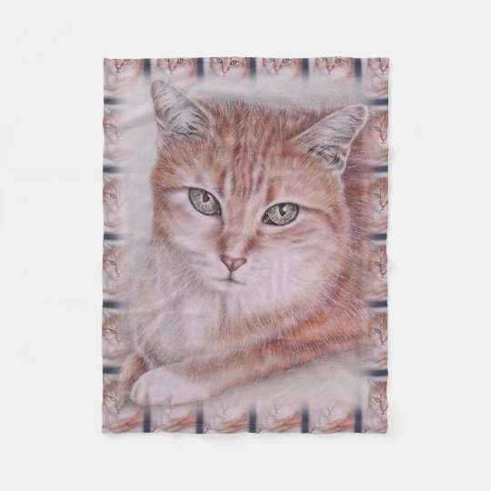 Beautiful Tabby Cat Art Drawing for Cat Lovers