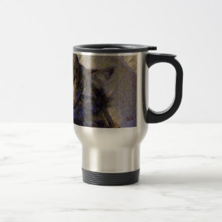 Beautiful Tabby Maine Coon Kitty Cat in a Basket 15 Oz Stainless Steel Travel Mug