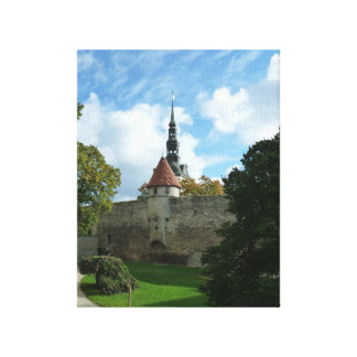Beautiful Tallin in Autumn Canvas Print