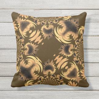 Beautiful Tan Brown Motif Cushion