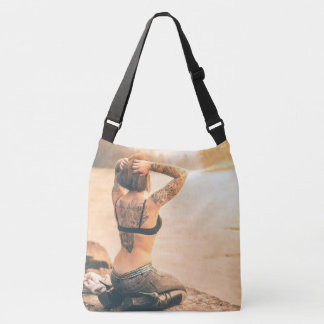 Beautiful Tattooed Zen Lady Meditating Tote Bag