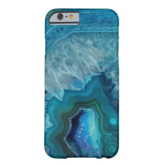 Beautiful Teal Blue Agate Stone Barely There iPhone 6 Case