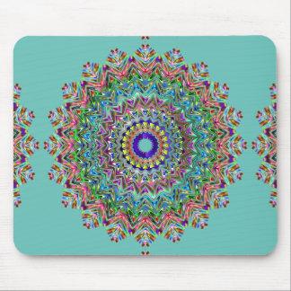 Beautiful Teal Mandala Mouse Pad