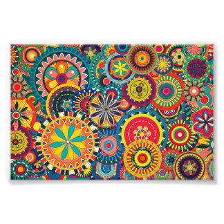 Beautiful Texture floral colorful Pattern Art Photo