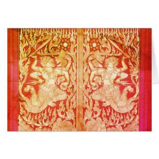 Beautiful Thailand ~ Wat Door and Buddha Card