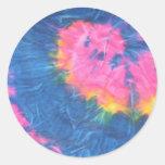 Beautiful Tie Dye Stickers-Retro Round Sticker