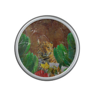 Beautiful Tiger Floral Palette Oil Bluetooth Speaker