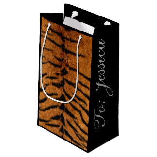 Beautiful Tiger Print Small Gift Bag