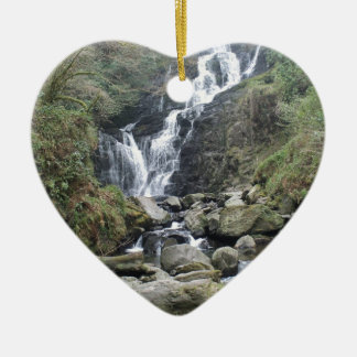 Beautiful Torc Waterfall, Killarney Ireland Ceramic Heart Decoration