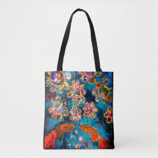 Beautiful tote bag 'Daschunds in Love'