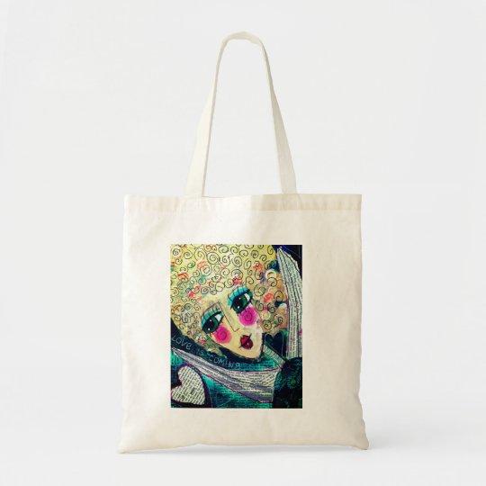 Beautiful tote bag 'Love is Coming'