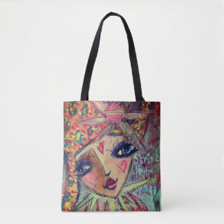 Beautiful tote bag 'strive to be happy'