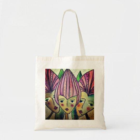 Beautiful tote bag 'three sisters'