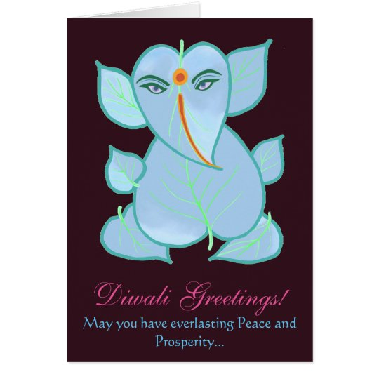 Beautiful Traditional Diwali Greetings Card
