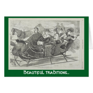 Beautiful traditions Christmas Bells greeting card