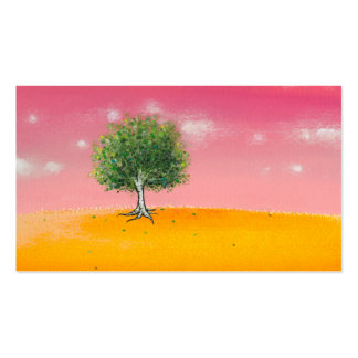 Beautiful tree landscape art original painting Double-Sided standard business cards (Pack of 100)