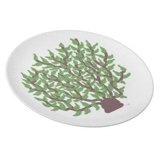 Beautiful Tree Melamine Plate