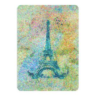 Beautiful trendy girly vintage Eiffel Tower 13 Cm X 18 Cm Invitation Card