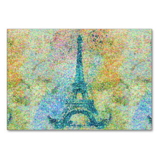 Beautiful trendy girly vintage Eiffel Tower Card