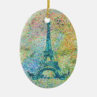 Beautiful trendy girly vintage Eiffel Tower France Christmas Ornament