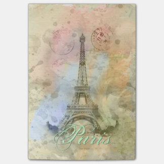 Beautiful trendy girly vintage Eiffel Tower France Post-it Notes