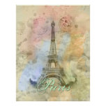 Beautiful trendy girly vintage Eiffel Tower France Poster