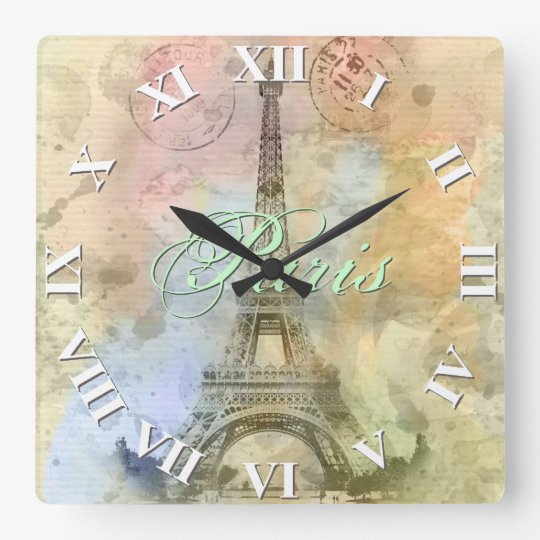 Beautiful trendy girly vintage Eiffel Tower France Square