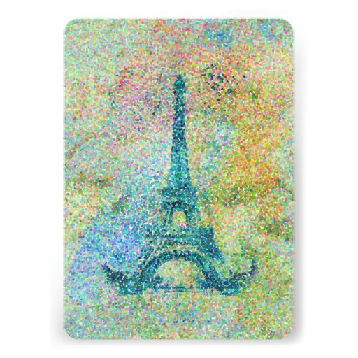 Beautiful trendy girly vintage Eiffel Tower Personalized Invitation