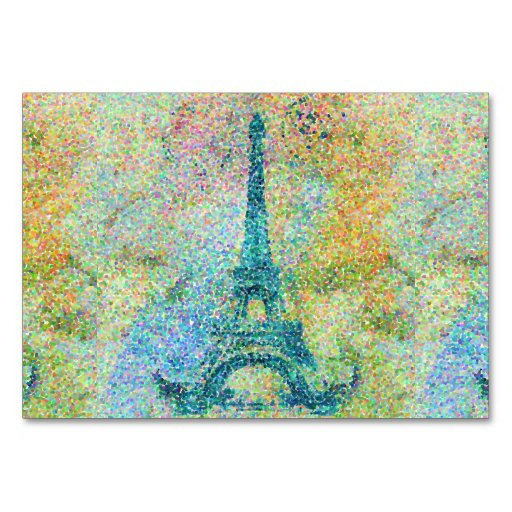 Beautiful trendy girly vintage Eiffel Tower Table Cards