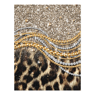 Beautiful trendy leopard faux animal print 21.5 cm x 28 cm flyer