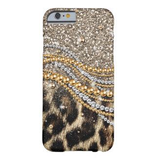 Beautiful trendy leopard faux animal print barely there iPhone 6 case
