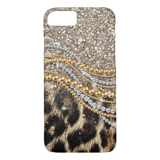 Beautiful trendy leopard faux animal print iPhone 7 case