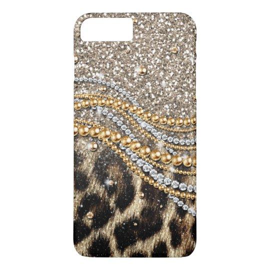 Beautiful trendy leopard faux animal print iPhone 8