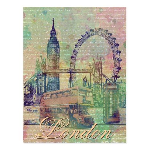 Beautiful trendy Vintage London Landmarks Post Cards