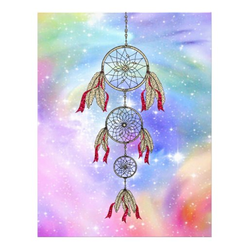 Beautiful trendy whimsical  dream-catcher feathers personalized flyer
